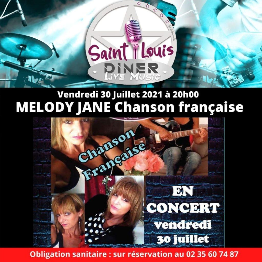 Vendredi 30 Juillet 2021 à 20h00 Melody Jane