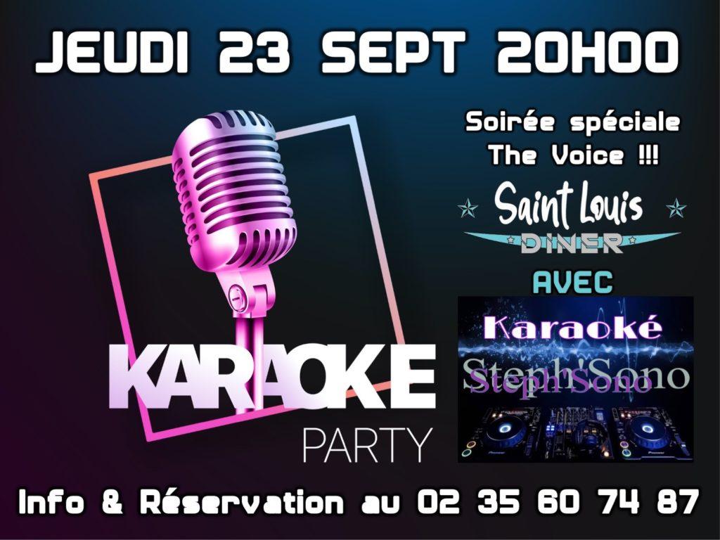 karaoke jeudi 23 septembre 2021